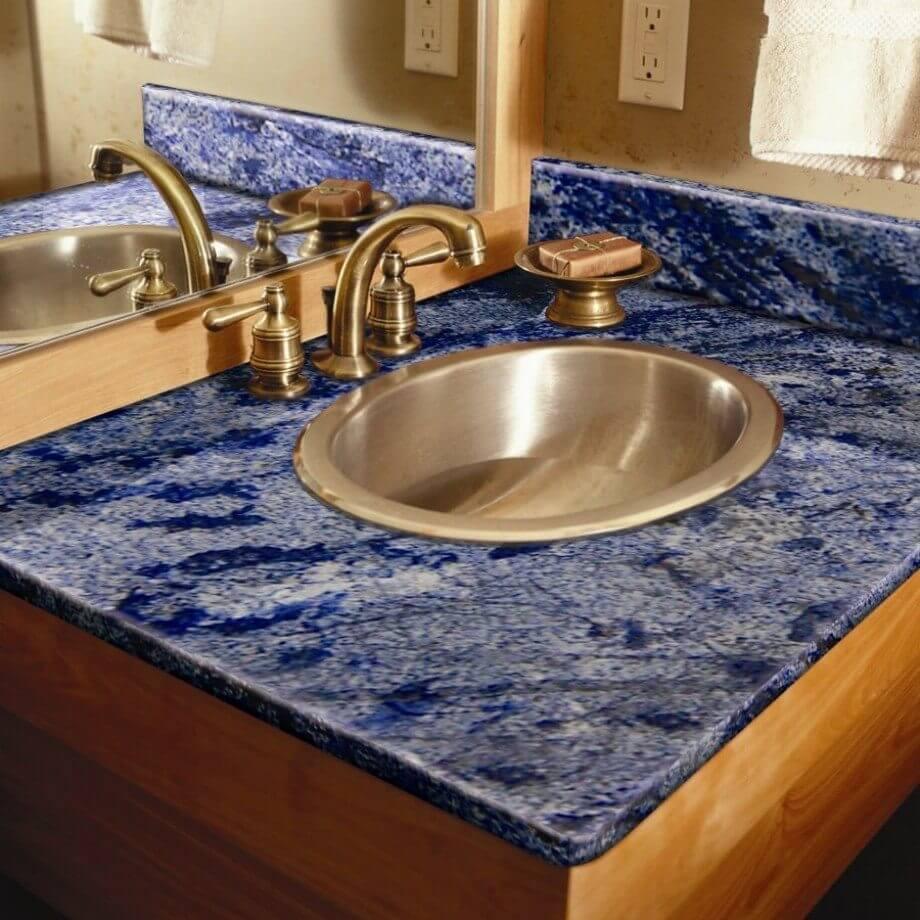azul bahia granit tezgah