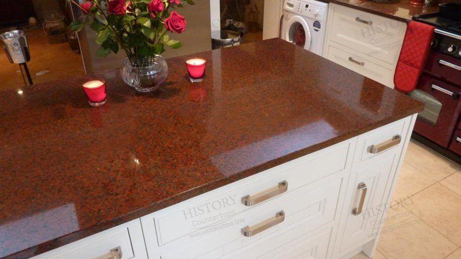african red granit tezgah